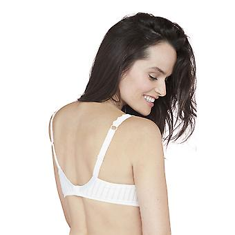 Bestform 44446-011 Women's Stockholm Ivory Off White Striped Underwired Full Cup Bra