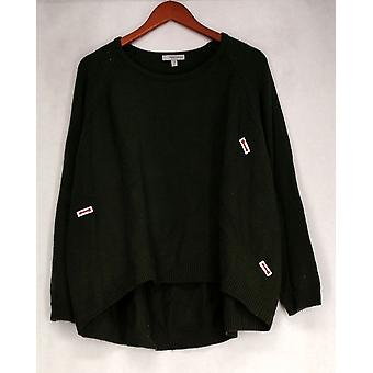 Daisy Fuentes Sweater Scoopneck Sweater Green Womens 502-507
