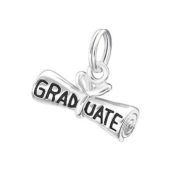 Graduate - 925 Sterling Silver Charms with Split ring - W19569X