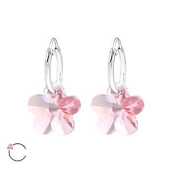 来自施华洛世奇的花水晶® - 925 纯银耳环 - W29469x