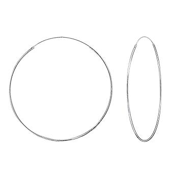 Endless - 925 Sterling Silver Ear Hoops - W9419x
