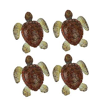 Brown Sea Turtle Drawer or Cabinet Door Pulls Set of 4