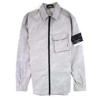 Stone Island Shadow Project Lenticular Zip-up Overshirt Jacket Black V0029