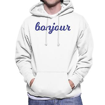Bonjour Navy Fancy Men's Hooded Sweatshirt