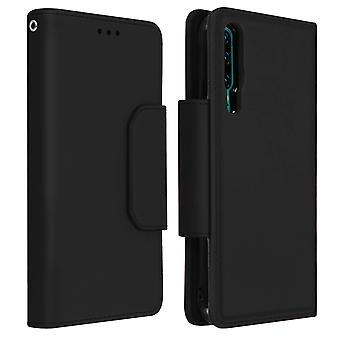 Custodia magnetica a folio con portafoglio staccabile per Huawei P30 - Nero