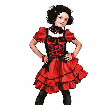Cancan Kinder kostuum dansers kostuum voor kinderen Saloon westerse meisje