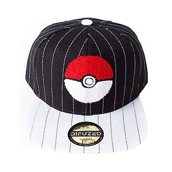 Pokemon baseball cap Pokeball logo varsity ny officiel sort SnapBack