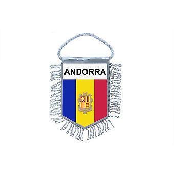 Fanion Mini Drapeau Pays Voiture Decoration Andorre Andorra