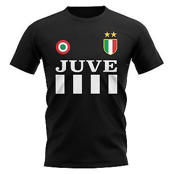Juventus vintage fodbold T-shirt (sort)