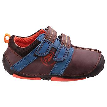 Hush Puppies Boys Eddy Pre-walkers Brown F Fitting