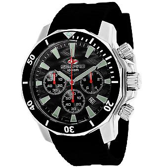Seapro Men's Scuba Dragon Diver Limited Edition 1000 Meter schwarzes Zifferblatt Uhr - SP8340R