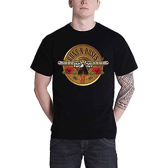Guns N Roses T Shirt Classic logo 30th Anniversary Pistols Official Mens Black