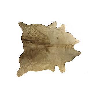 """72"""" x 84&quot& זהב עור פרה שטיח"""