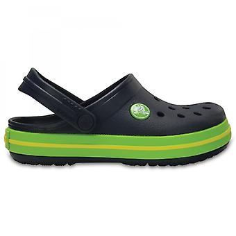 Crocs 204537 Crocband Дети Unisex Клопс военно-морского флота / вольт Зеленый