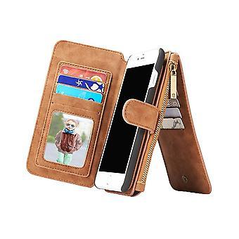 Case voor iPhone 8 Plus/7 Plus Multifunctioneel portfolio bruin