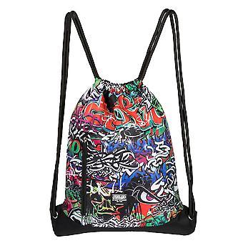 No Fear Unisex Graffiti Gym Sack Bag Litghweight Training Sports Bag