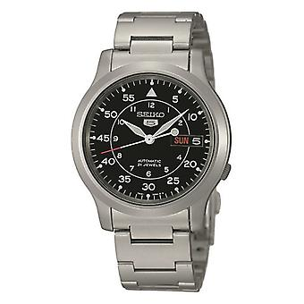 Seiko Silver Silver Stainless Steel Strap Mens Watch SNK809K1 37mm