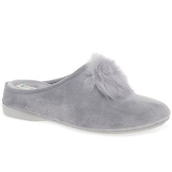 Cosdam Pom Pom Womens Mule Slippers