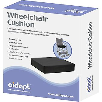 Aidapt - rolstoel kussen - 10 cm dik - 45,7 cm breed - 40,6 cm diep - memoryfoam