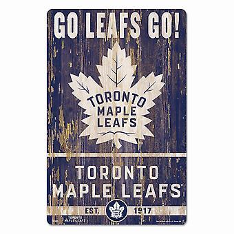 Wincraft NHL Wooden Sign SLOGAN Toronto Maple Leafs 43x28cm