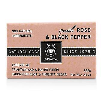 Apivita Natural Soap With Rose & Black Pepper 125g/4.41oz