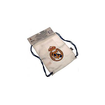 Real Madrid FC snor Gym Bag med Zip Pocket