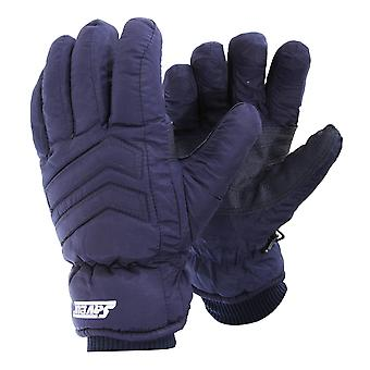 Mens Padded Waterproof Thermolite Thermal Ski Gloves With Palm Grip