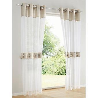 Heine home ( 2 pcs. ) romantic decostore + tie-up beige HxW 225x140 cm