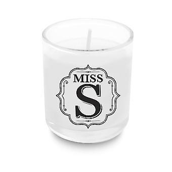 Heart & Home Alphabet Votive Candle - Miss S