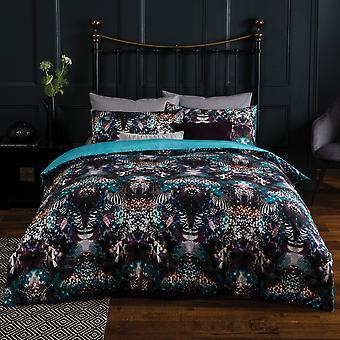 Roupa de cama textura leopardo - capa de edredom 100% algodão e conjunto de fronha