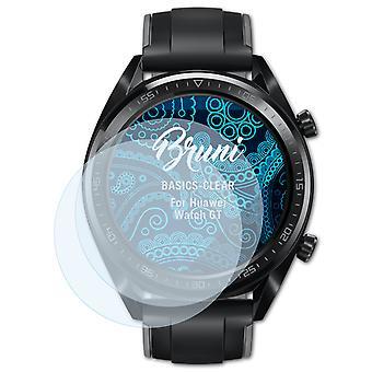 Bruni 2x Protecteur d'écran compatible avec Huawei Watch GT Écran protecteur