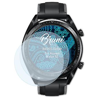 Bruni 2x Screen Protector kompatibel med Huawei Watch GT Beskyttende Film