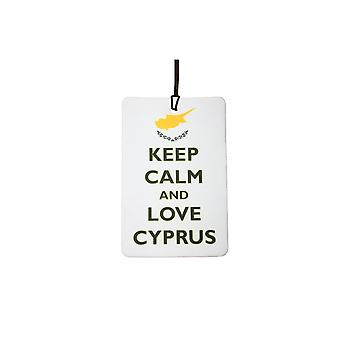 Keep Calm And Love Cyprus Car Air Freshener