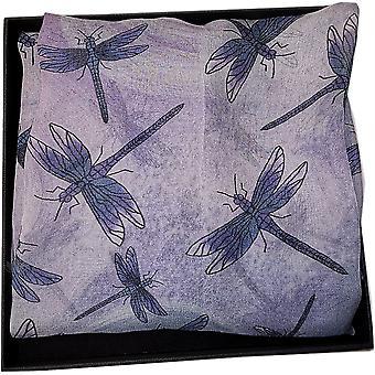 Silk Chiffon Dragonfly Collection Scarf di Ladycrow Scotland - Mercury
