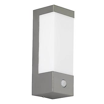 WOFI Vir Outdoor Pir Wall Light In Stainless Steel Finish Ip44 4147.01.97.7000