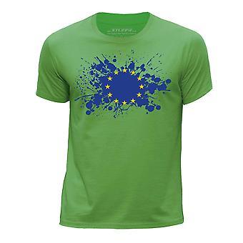 STUFF4 Boy's Round Neck T-Shirt/European Union/EU Flag/Green