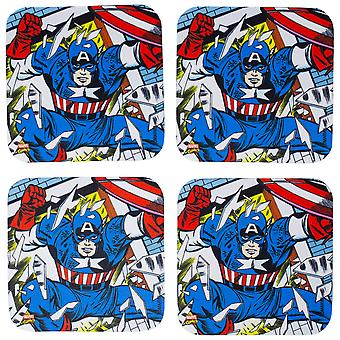 Marvel Captain America 4-Piece Neoprene Coaster Set