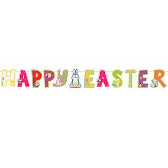 Eurowrap Happy Easter Text Garland