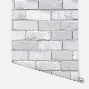 669401 - Diamond Silver Brick - Carta da parati Arthouse