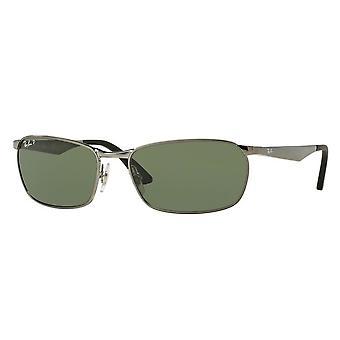 Ray-Ban RB3534 004/58 Gunmetal/Polariserade gröna solglasögon