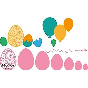Marianne Design Collectables Cutting Dies - Easter Eggs / Balloons COL1425