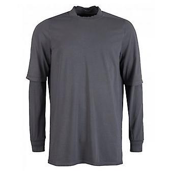 Rick Owens Drk Shdw Hustler Long Sleeved Crew Neck T-Shirt