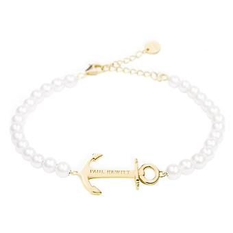 PH-ABB-G-P - wristband bracelet white pearls