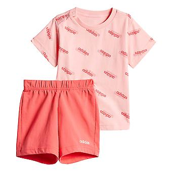 adidas Favorieten Infant Kids Girls T-shirt en korte zomerset roze