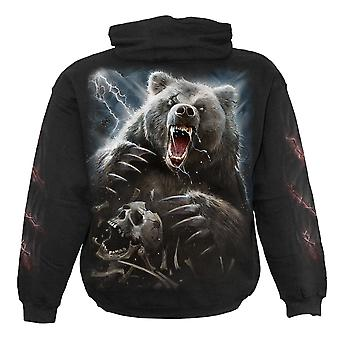 Spiral Direct Gothic BEAR CLAWS - Hoody Black|Native American|Horror|Forest|Skulls