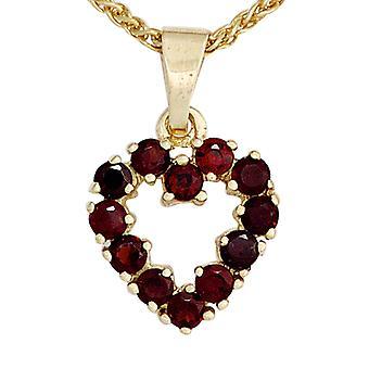 Garnet heart red garnet jewelry pendant heart 375 gold yellow gold 12 grenade
