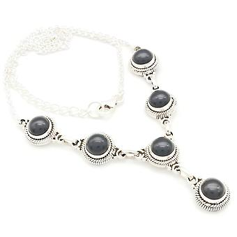 Onyx Necklace 925 Silver Sterling Silver Necklace Black (MCO 03-03)
