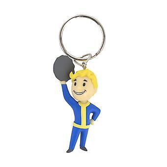 Hivatalos Fallout Vault Boy barter kulcstartó/kulcstartó