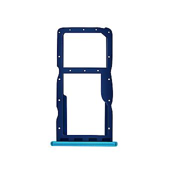 Sim and Micro SD card tray slot adapter for Huawei P30 Lite, Spare parts- Blue