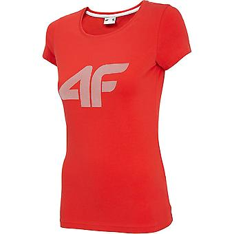 4F TSD005 NOSH4TSD005CZERWONY universal summer women t-shirt